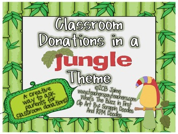Classroom Donations Jungle Theme {A Creative Way to Ask for Classroom Donations}