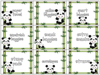 Classroom Donations Panda Theme {A Creative Way to Ask for Classroom Donations}