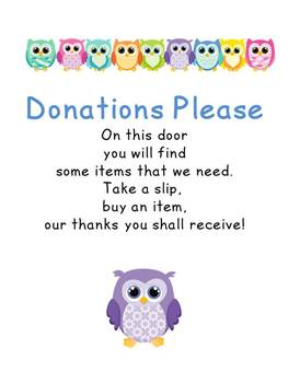 Classroom Donations Please Owls