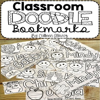 Classroom Doodle Bookmarks