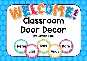 Classroom Door Decor - Back to School {FREE}
