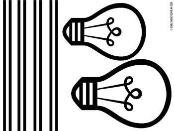 Classroom Door Decor Kit: Be Bold, Be Brilliant, Be You! - Light bulb decor