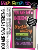 Classroom Door Decor Kit: You Are Now Entering..Growth Mindset, Flexible Seating
