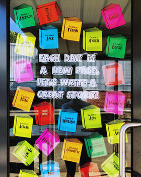 Classroom Door Display - Book Themed