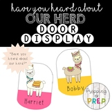 Classroom Door Display- Have you heard about our herd?
