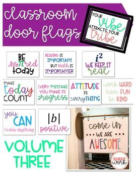 Classroom Door Flags: Volume 3