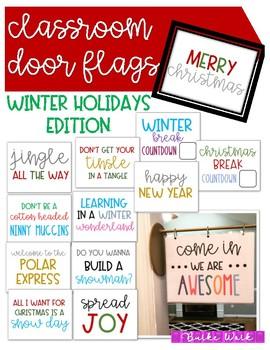Classroom Door Flags: Winter Holidays