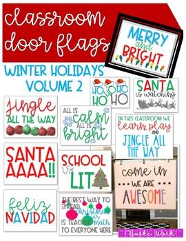 Classroom Door Flags: Winter Holidays VOLUME 2