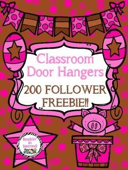 Classroom Door Hangers (200 FOLLOWER FREEBIE)