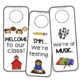 Where Are We? Classroom Door Hangers