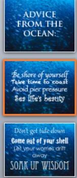 Classroom Door Poster: Advice From The Ocean