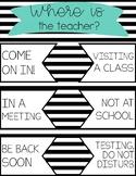 Classroom Door Poster - Where is the Teacher?