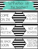 Classroom Door Poster - Where is the Teacher?