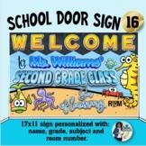 Classroom Door Sign 16 - Personalized