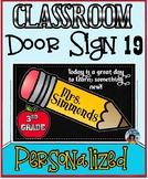 Classroom Door Sign 19 - Personalized