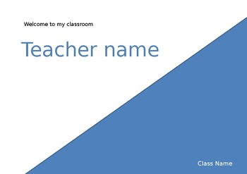 Classroom Door Sign (Editable)