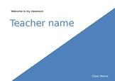 Classroom Door Sign (Editable)