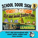 Classroom Door Sign 5 - Personalized