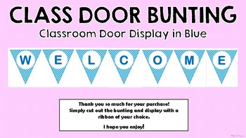 Classroom Door Sign Bunting