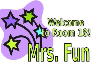 Classroom Door Sign - Editable