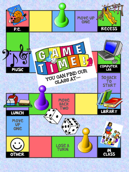 Classroom Door Sign - Game Board Theme