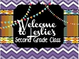 Classroom Door Sign Poster - With Editable, Customizable Text