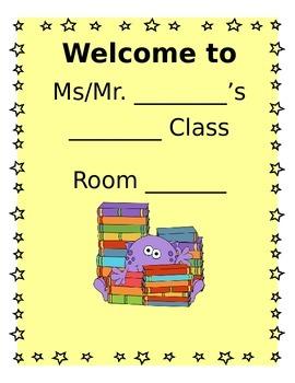 Classroom Door Signs