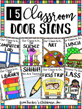 Classroom Door Signs