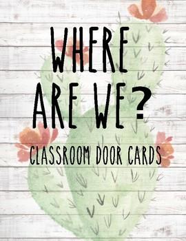 Classroom Door Signs ~ Cactus