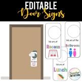 Classroom Door Signs {EDITABLE}