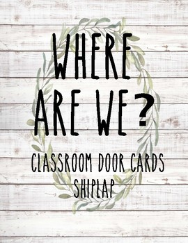 Classroom Door Signs ~ Shiplap