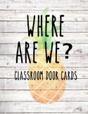 Classroom Door Signs ~ Pineapple