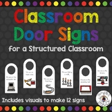 Classroom Door Signs for a Structured Classroom
