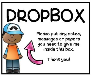 Classroom Drop Box Sign
