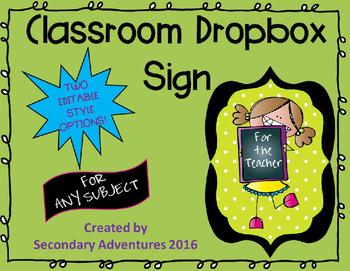 Classroom Dropbox Sign