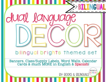 Classroom {Dual} Decor Pack- Editable Brights Theme