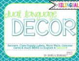 Classroom {Dual} Decor Pack- Editable Cool Blues Theme Upper Elem