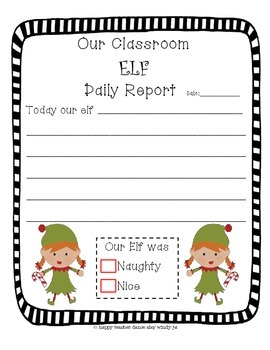 Classroom ELF Daily Report