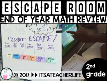 Classroom ESCAPE! | 2nd Grade Math Review | End of Year Review