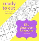 Classroom ESL Vocabulary Flashcards - Part 1 - Ready to pr