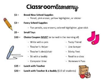 Classroom Econmy - Price List