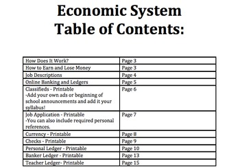 Classroom Economic System-UPDATED!