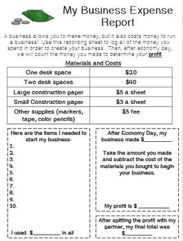 Classroom Economics Freebie!
