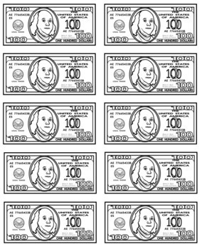 Classroom economy jobs bucks label your money for Classroom bucks template