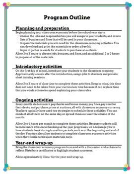 Classroom Economy (explained) *FREEBIE*