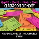 Classroom Economy - 4 Themes: Apple Cash, Book Bucks, Dino Dollars, Sunny Money