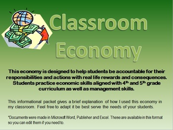 Classroom Economy- 4th and 5th Grade (management and SS alignment)