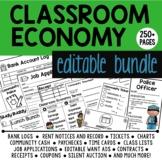 Classroom Economy EDITABLE Bundle: An Educational Classroom Management Tool