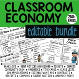 Classroom Economy EDITABLE Bundle: An Educational Classroom Management Tool