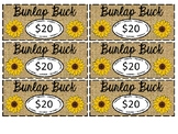 Classroom Economy:  Burlap Bucks
